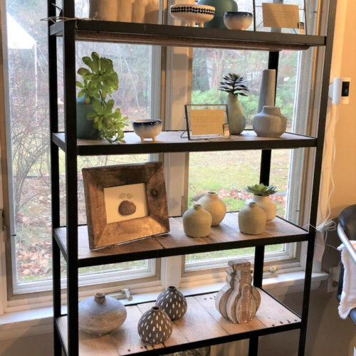 7 Tier Shelving Unit with Reclaimed Oak and Steel Frame