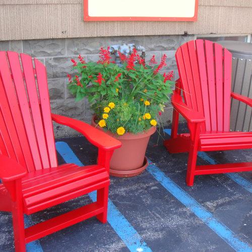 Chair Shown in Painted Cedar