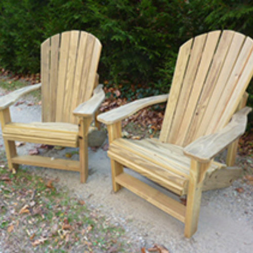 Chairs shown in Treated Pine