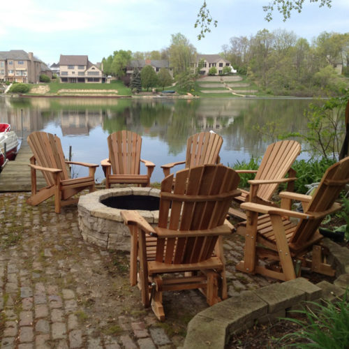 Chairs and Single Gliders Shown in Cedar