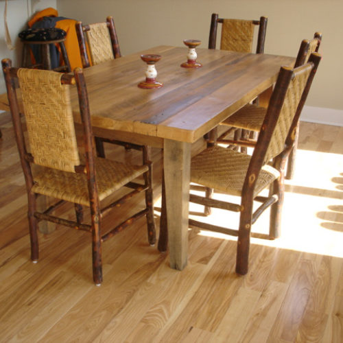 Dining Table in Antique Reclaimed Maple