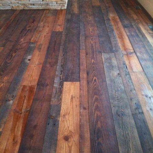 Antique Reclaimed Distressed Pine Flooring