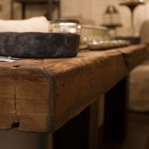 Reclaimed Beam Console