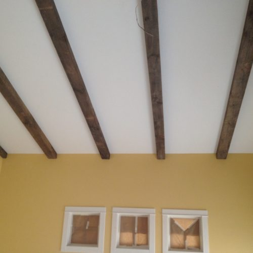 Beams in Weathered White Pine