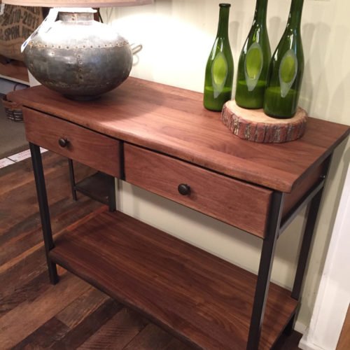 Buffet /Hallway Table in Cherry with Steel Frame