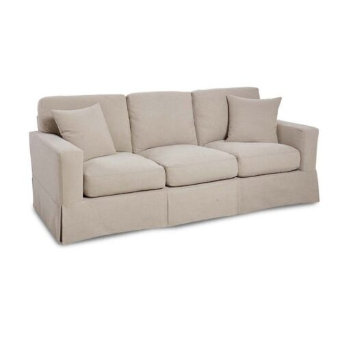 Cottage Sofa in Stone Washed Canvas