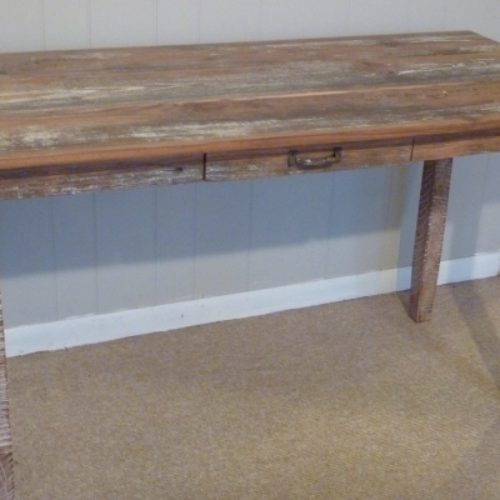 Desk with Drawer in Reclaimed Barn Wood