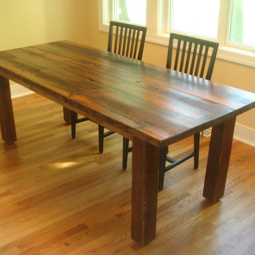 Dining Table in Antique Reclaimed White Pine