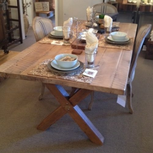 Dining Table in Antique Reclaimed Rough Sawn Sugar Maple