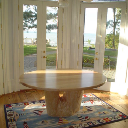 Dining Table in Re-Purposed Silver Maple from Owner's Property