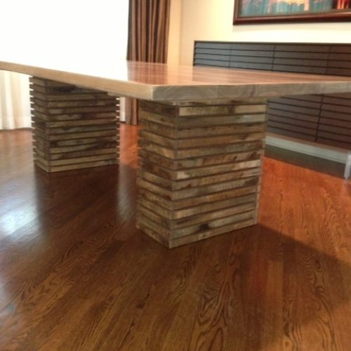 Dining Table with Walnut top and Paloma Style Base