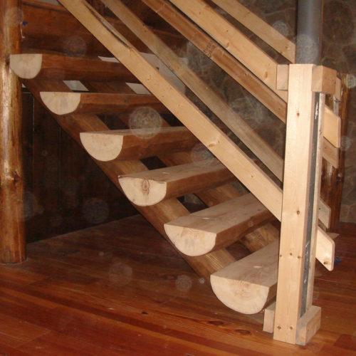 Half Log Stair Treads