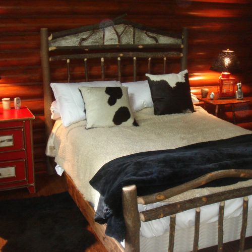 Hickory And Birch Veneer Bed
