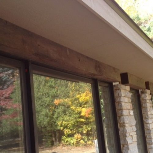Lintels in Antique Reclaimed Pine with Outdoor Finish