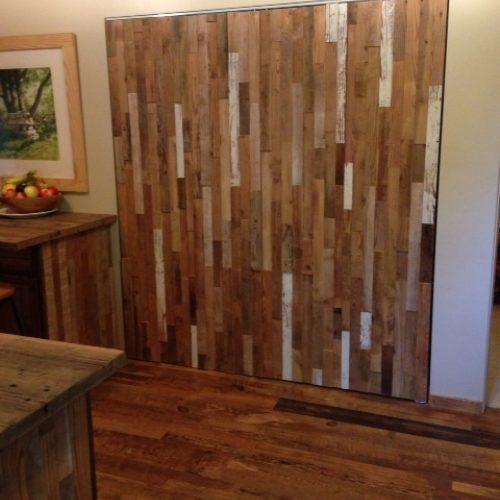 Mixed Barn Wood Paneling on Bi-Fold Doors