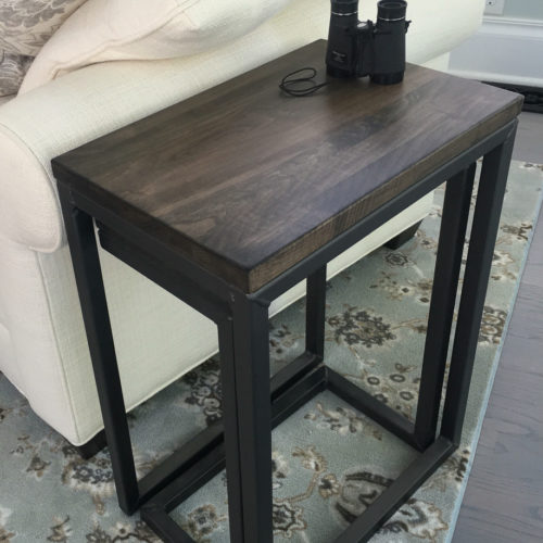 Nesting Side Tables with Stormy Gray Maple and Tubular Steel Base