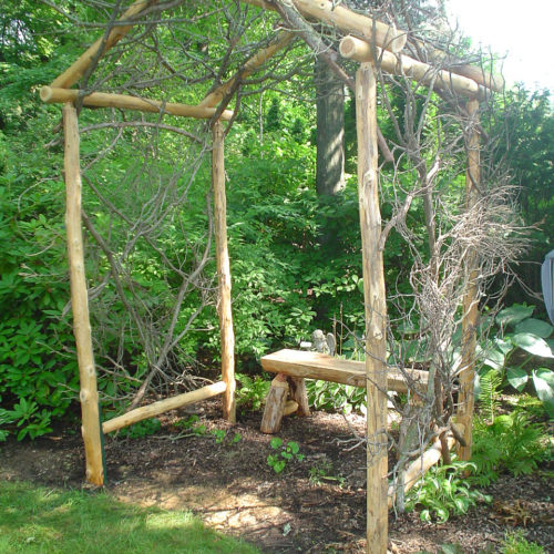 Pergola in Cedar with Twig Infill