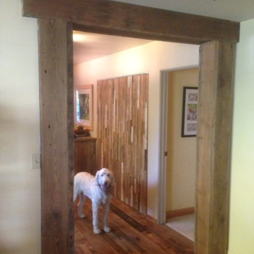Posts and Header Beam in Antique Reclaimed Pine
