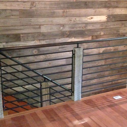 Reclaimed Oak Posts with Custom Steel Work