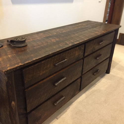 Reclaimed Weathered White Pine Dresser