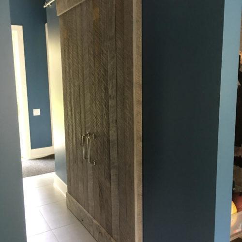 Reclaimed Weathered White Pine Sliding Door