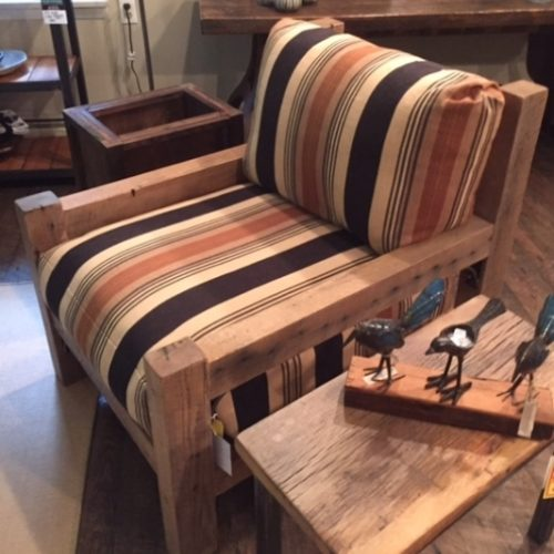 Reclaimed Wood Club Chair