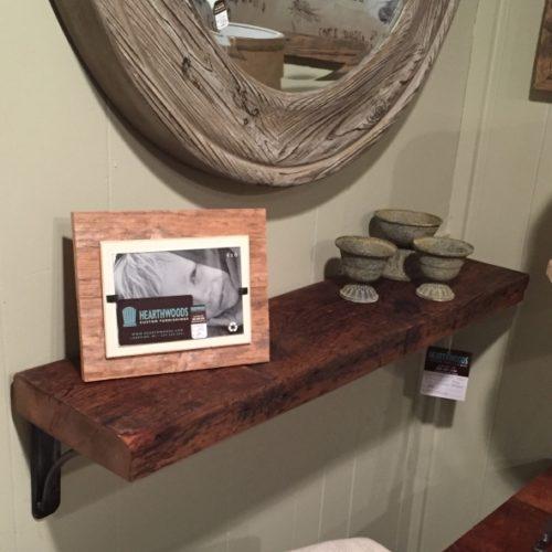 Reclaimed Wood Shelf with Steel Brackets