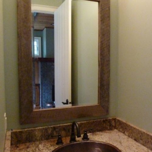 Rough Sawn Barn Wood Mirror Frame
