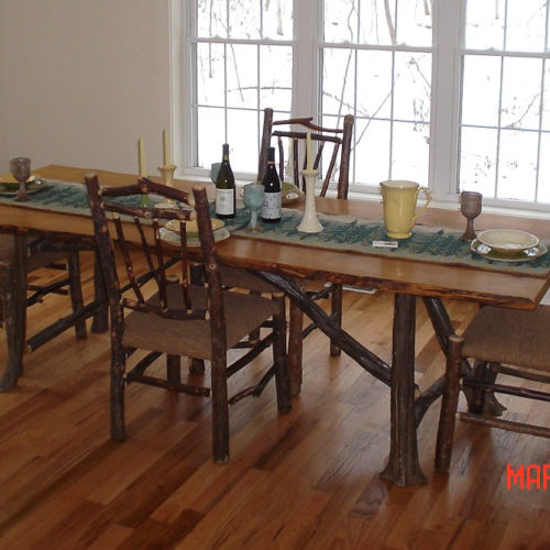 Rustic Dining Table in Hickory