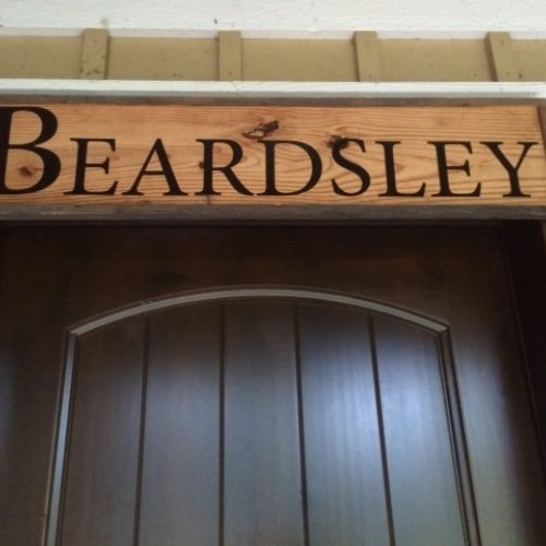 Sign with Antique Reclaimed Pine and Vinyl Lettering