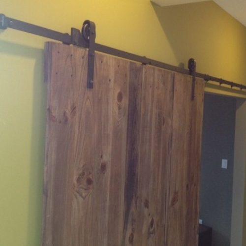 Sliding Door in Antique Reclaimed Pine