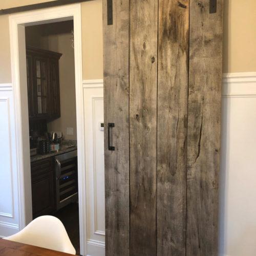 Sliding Door in Reclaimed Barn Wood