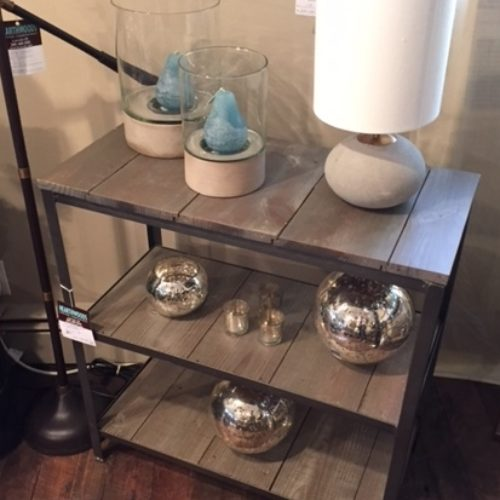 Three Tier Table with Reclaimed Gray Wood