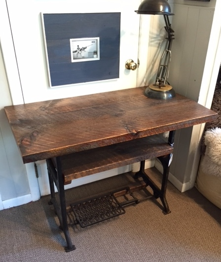 Item 139 Tv Table With Weathered White Pine Top And Shelf