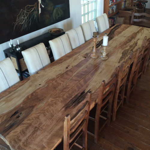 Dining Table made from Re-purposed Spalted Beech