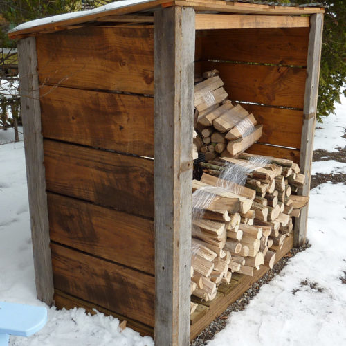 Wood Shed Made from 100% Reclaimed Materials